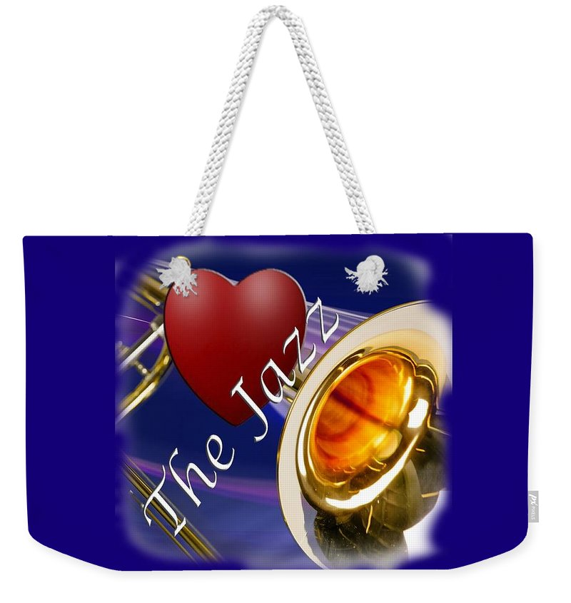 Trombone Weekender Tote Bag featuring the photograph The Trombone Jazz 002 by M K Miller