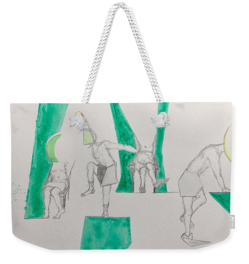 Tube Socks Weekender Tote Bag featuring the drawing The Tube Socks From That Night We First Chatted by Kaitlin Porter
