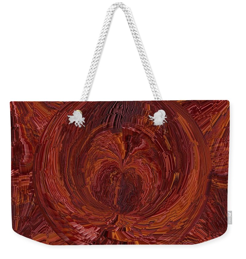 Tunnel Weekender Tote Bag featuring the digital art The Tunnel Red by Tim Allen