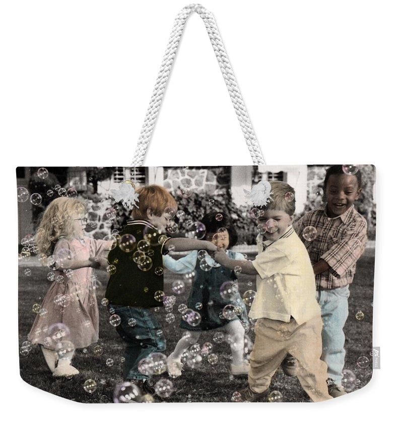 The Twelve Gifts Of Birth Weekender Tote Bag featuring the photograph The Twelve Gifts Of Birth - Joy 1 by Jill Reger