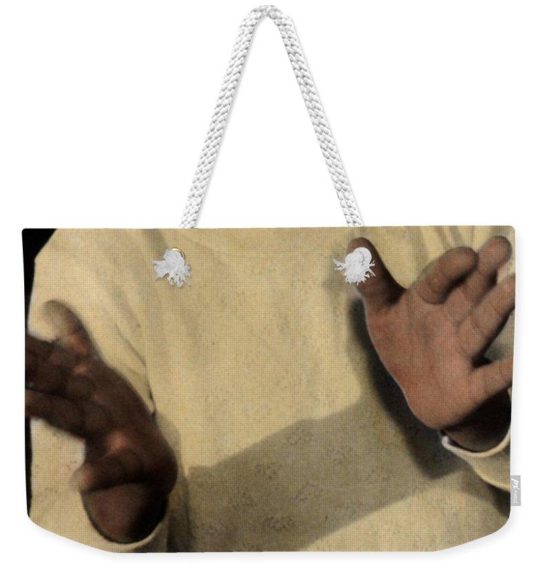 The Twelve Gifts Of Birth Weekender Tote Bag featuring the photograph The Twelve Gifts Of Birth - Joy 2 by Jill Reger