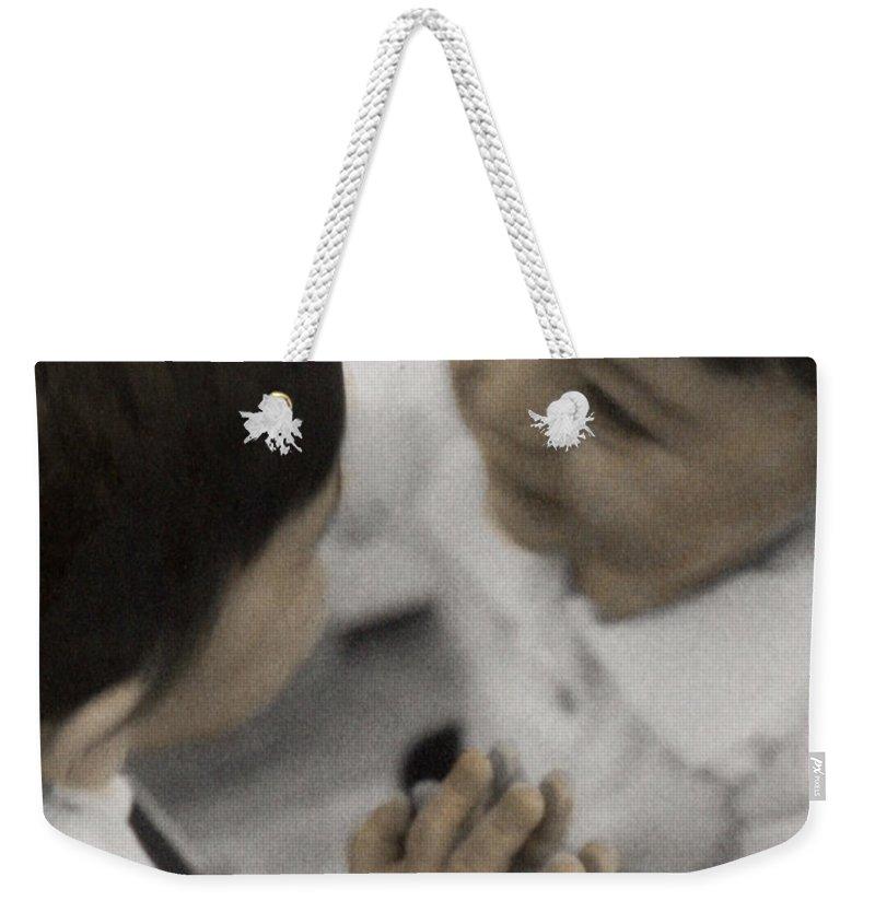 The Twelve Gifts Of Birth Weekender Tote Bag featuring the photograph The Twelve Gifts Of Birth - Reverence 2 by Jill Reger