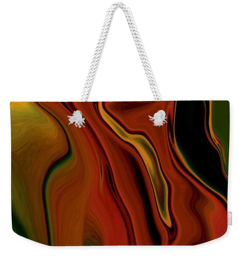 Abstract Weekender Tote Bag featuring the digital art The Two by Rabi Khan