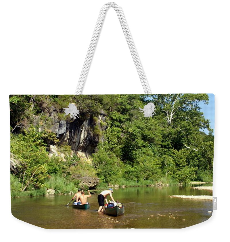 Jack's Fork River Weekender Tote Bag featuring the photograph The Upper Jack by Marty Koch