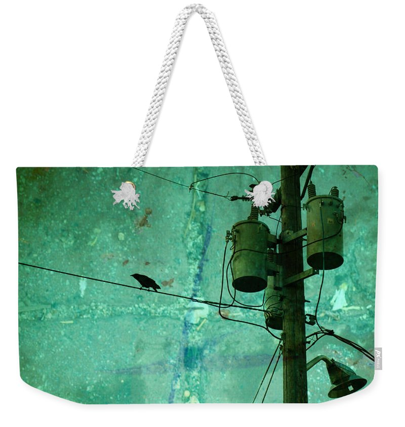 Urban Weekender Tote Bag featuring the photograph The Urban Crow by Tara Turner