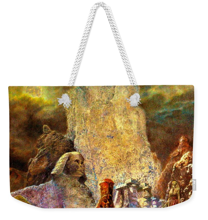 Weekender Tote Bag featuring the painting The Valley Of Sphinks by Henryk Gorecki