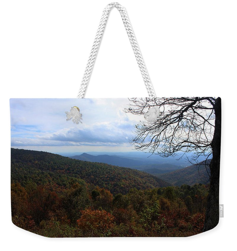 Shy Line Drive Weekender Tote Bag featuring the photograph The Valley by Paul A Williams
