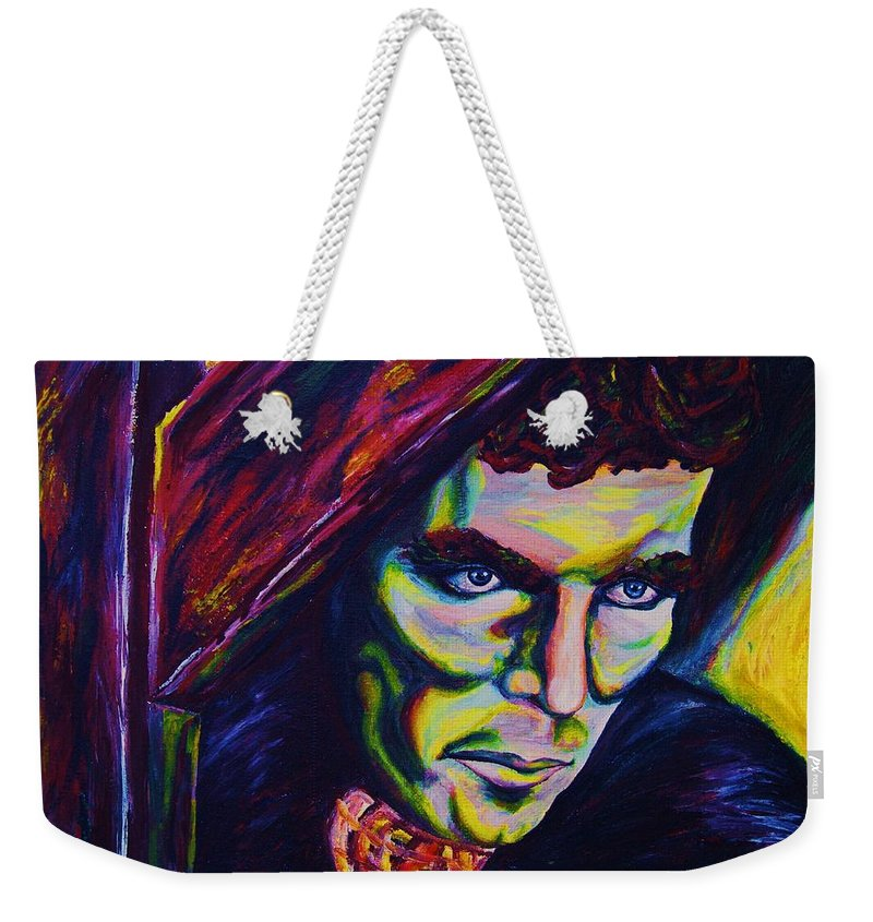 Portraits Weekender Tote Bag featuring the painting The Vampire Lestat by Carole Spandau
