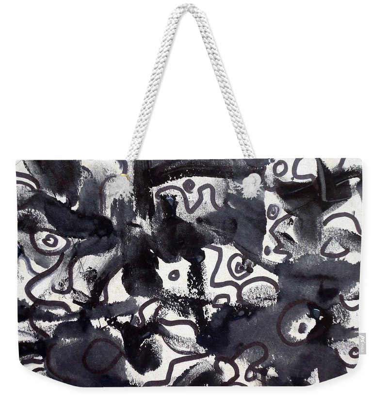 Art Trendsetting Universal Weekender Tote Bag featuring the painting The Veritable Aspects Of Uli Arts #222 by Mbonu Emerem
