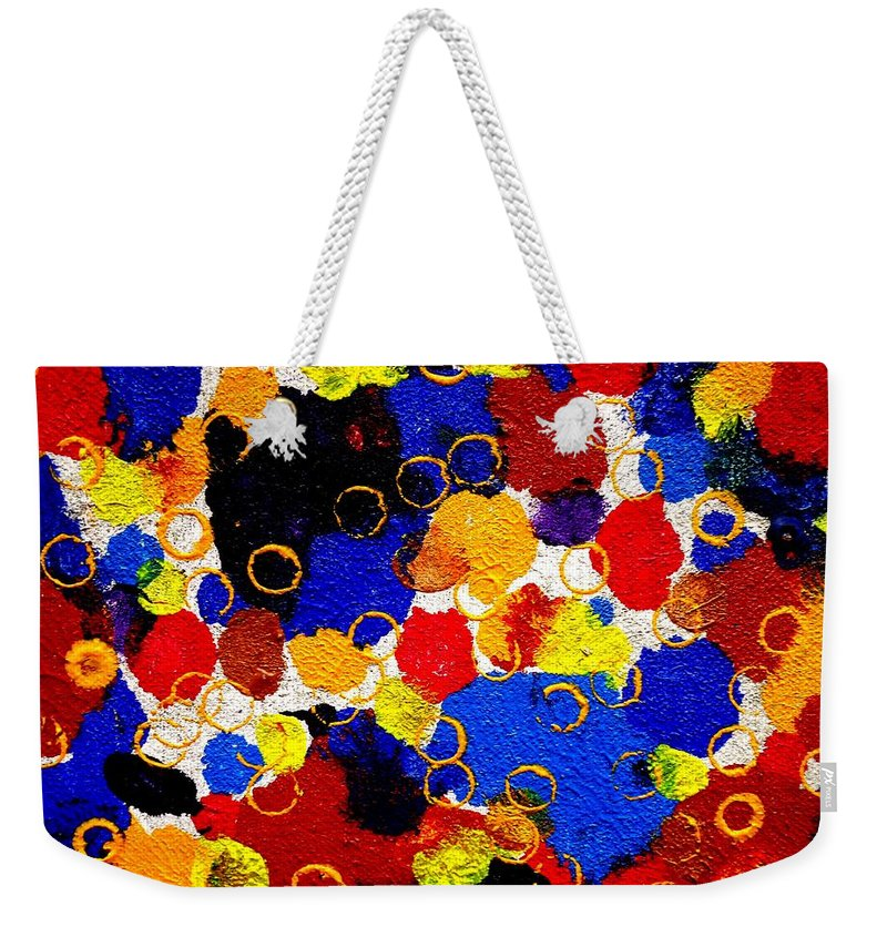 Art Trendsetting Universal Weekender Tote Bag featuring the painting The Veritable Aspects Of Uli Arts #323 by Mbonu Emerem