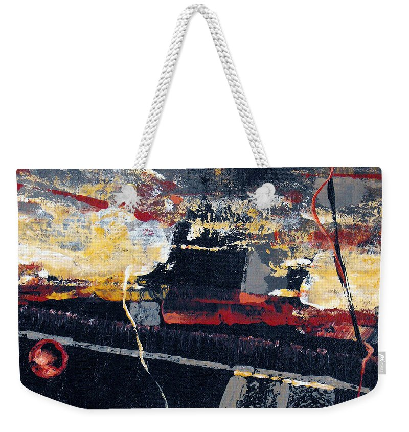 Abstract Weekender Tote Bag featuring the painting The View by Ruth Palmer