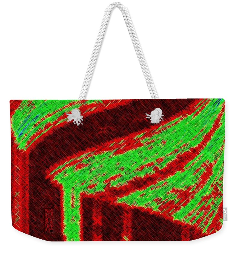 Abstract Weekender Tote Bag featuring the digital art The Village by Will Borden