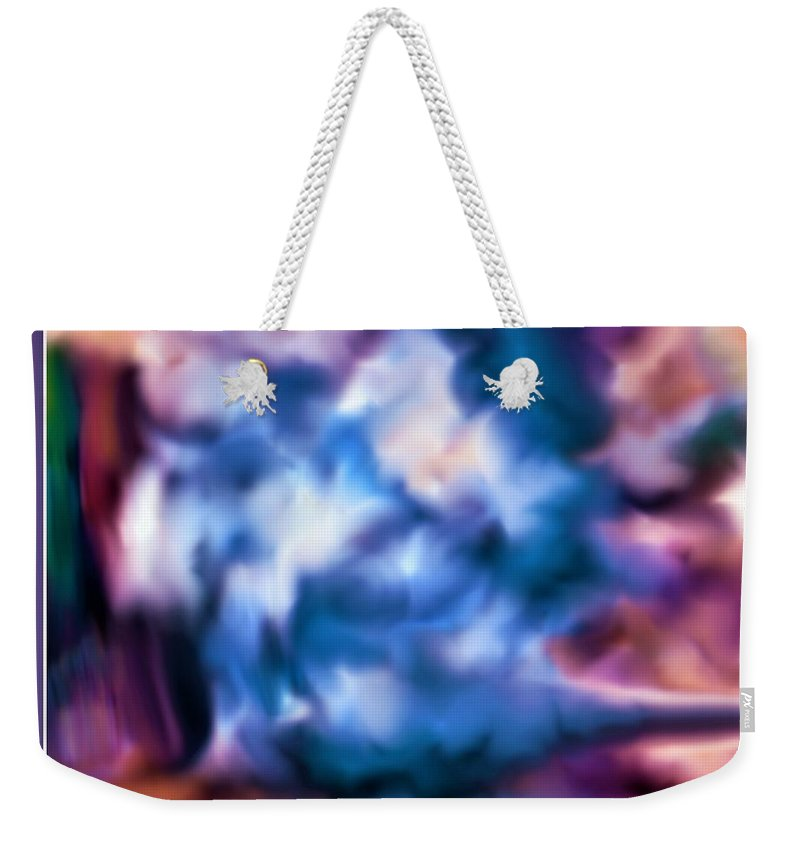 Abstract Weekender Tote Bag featuring the digital art The Visionary by Debra Lynch