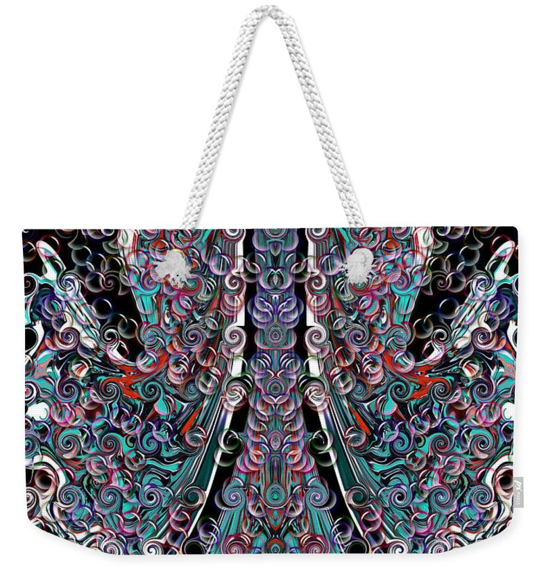 Weekender Tote Bag featuring the digital art The Visit by Subbora Jackson