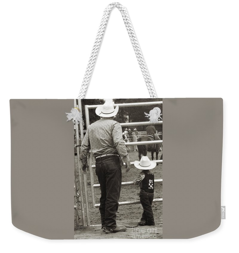 Rodeo Weekender Tote Bag featuring the photograph The Wait by September Stone