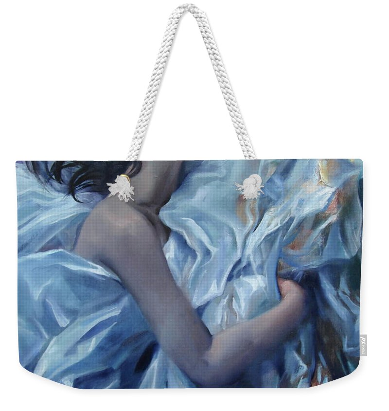 Ignatenko Weekender Tote Bag featuring the painting The waiting for the spring by Sergey Ignatenko