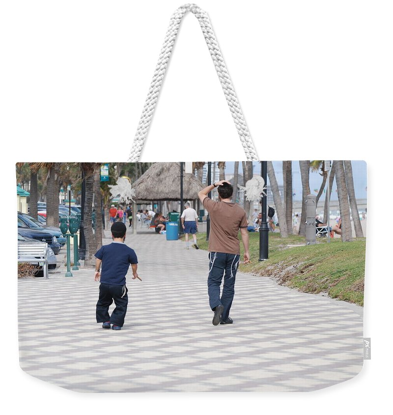 Man Weekender Tote Bag featuring the photograph The Walk by Rob Hans