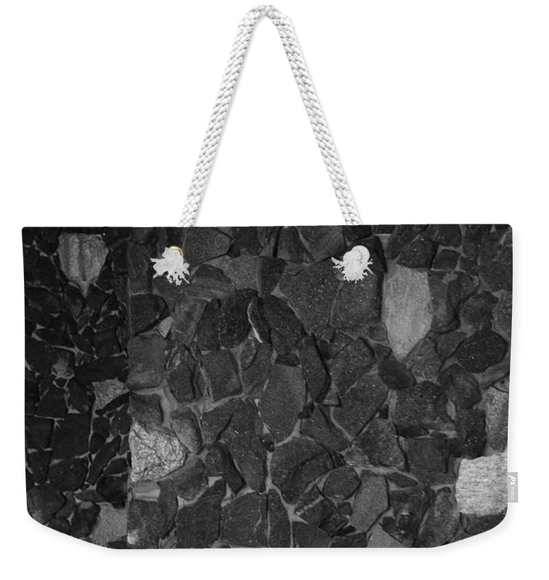 Black And White Weekender Tote Bag featuring the photograph The Wall by Rob Hans