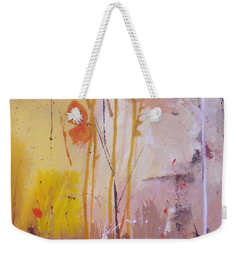 Abstract Weekender Tote Bag featuring the painting The Wallflowers by Ruth Palmer