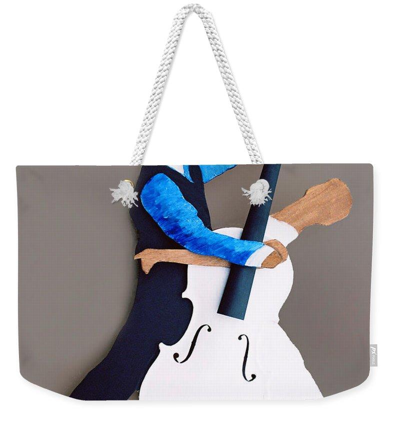Dance Weekender Tote Bag featuring the sculpture The Waltz by Steve Karol