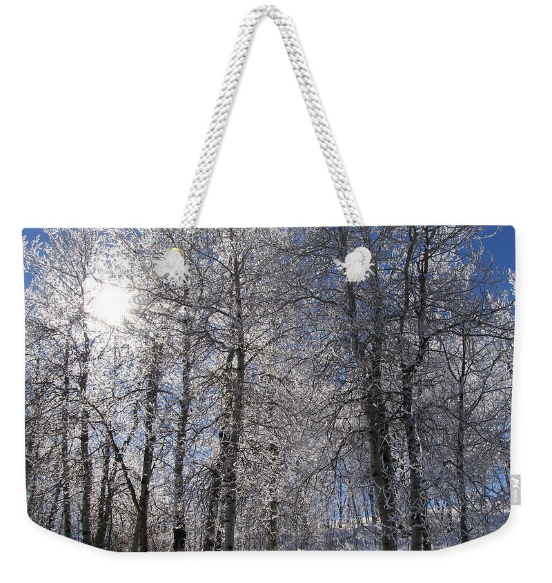 Frost Weekender Tote Bag featuring the photograph The Warmth Of The Sun by DeeLon Merritt