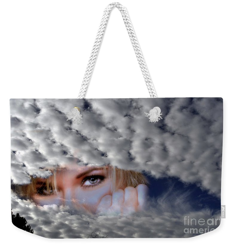 Clay Weekender Tote Bag featuring the photograph The Watcher Above by Clayton Bruster
