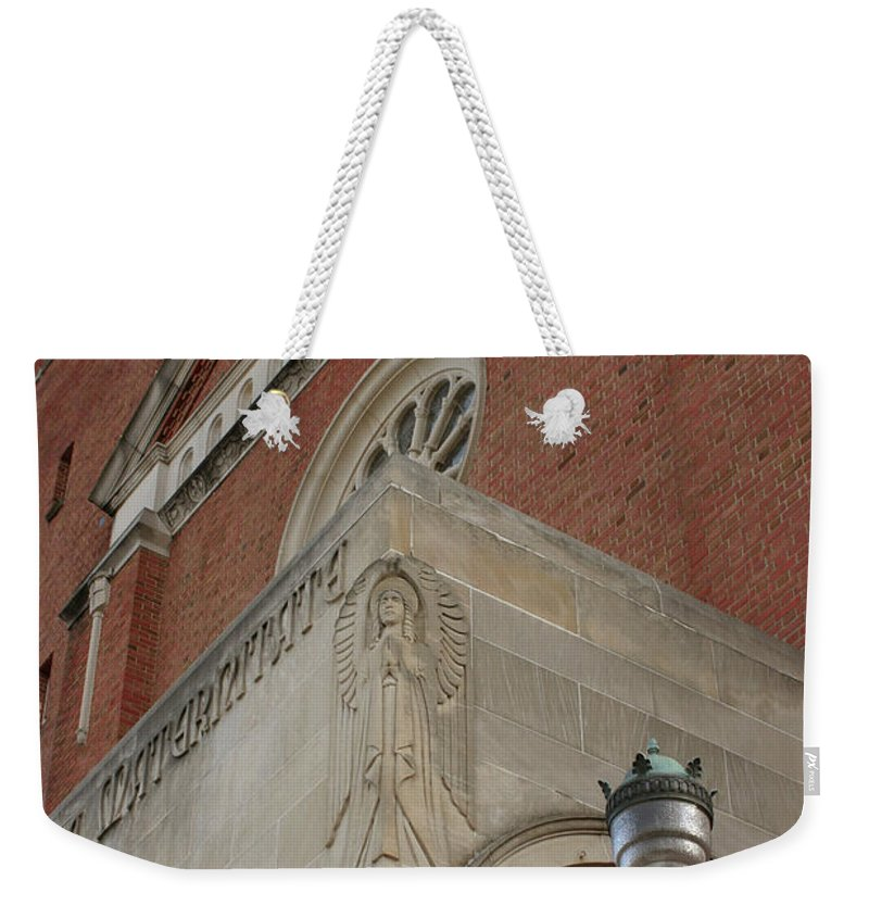 Church Weekender Tote Bag featuring the photograph The Watcher by Charles Long