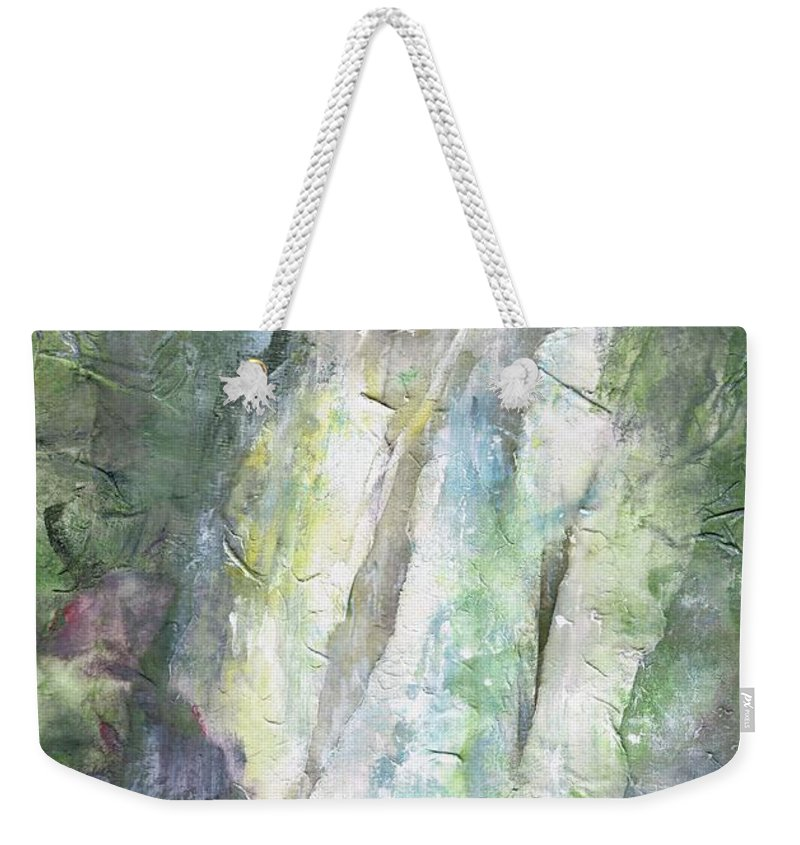 Waterfalls Weekender Tote Bag featuring the painting The Water Falls by Frances Marino