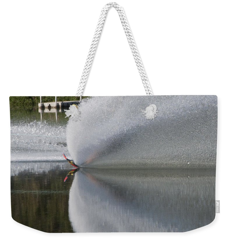 Waterskiing Weekender Tote Bag featuring the photograph The Water Skier by Steven Natanson
