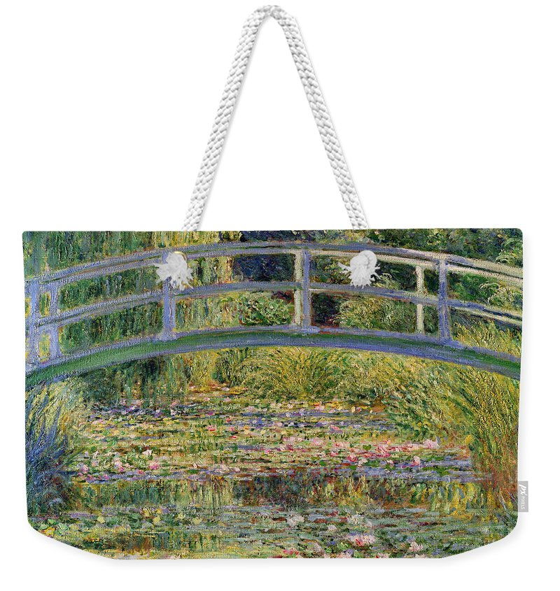 The Weekender Tote Bag featuring the painting The Waterlily Pond With The Japanese Bridge by Claude Monet