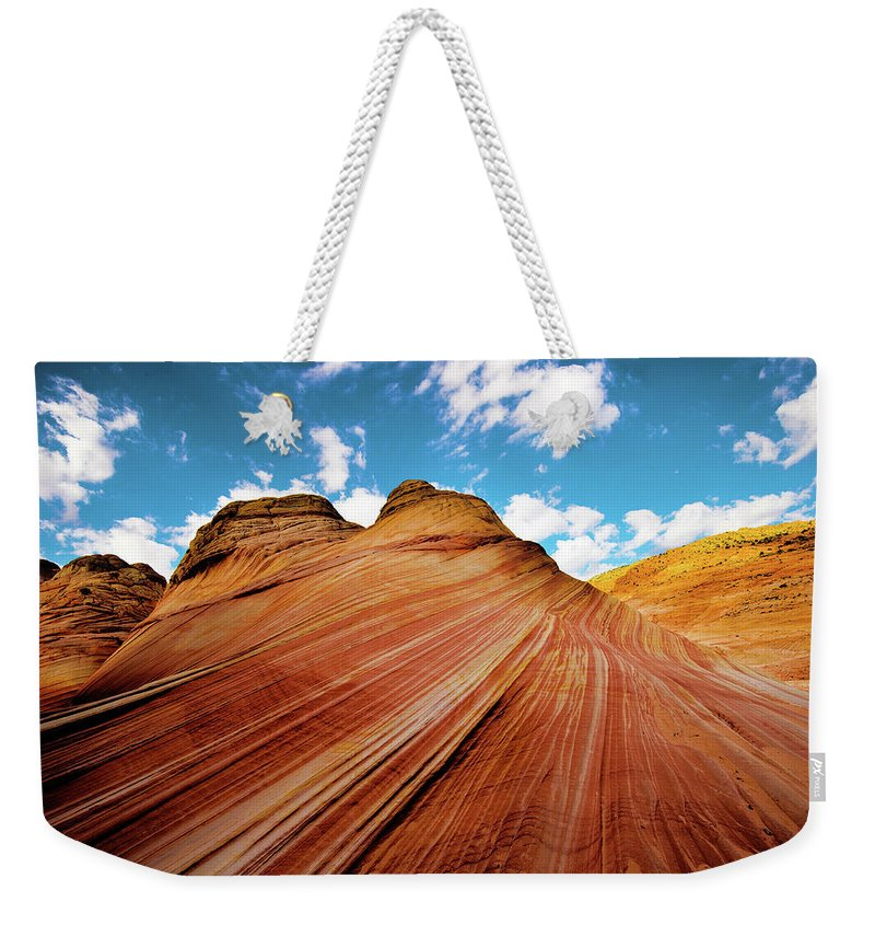 The Wave Weekender Tote Bag featuring the photograph The Wave Arizona Rocks by Norman Hall