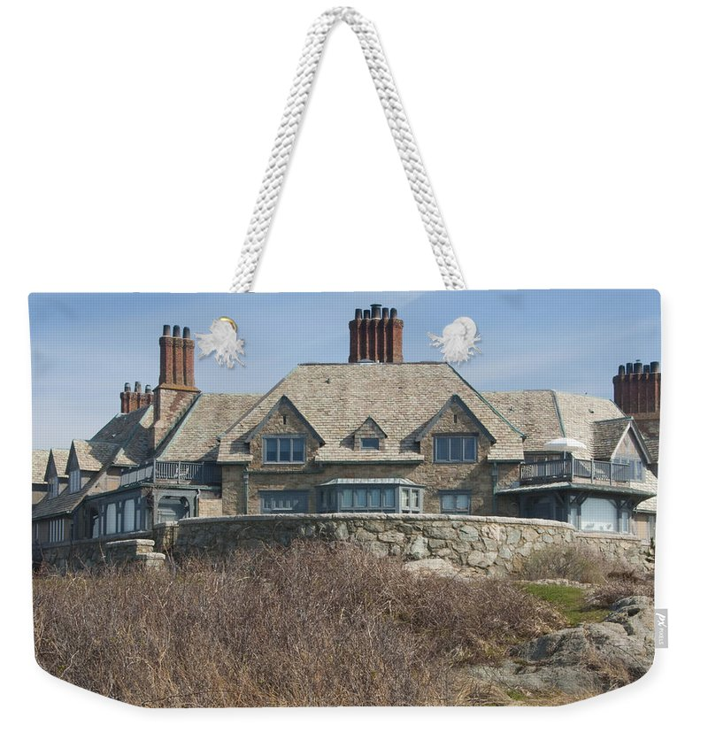 Newport Weekender Tote Bag featuring the photograph The Waves by Steven Natanson