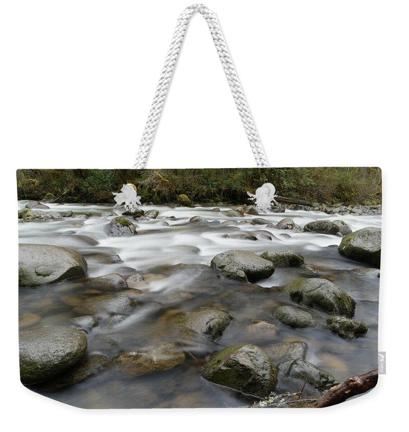 Rivers Weekender Tote Bag featuring the photograph The Way A River Flows by Jeff Swan