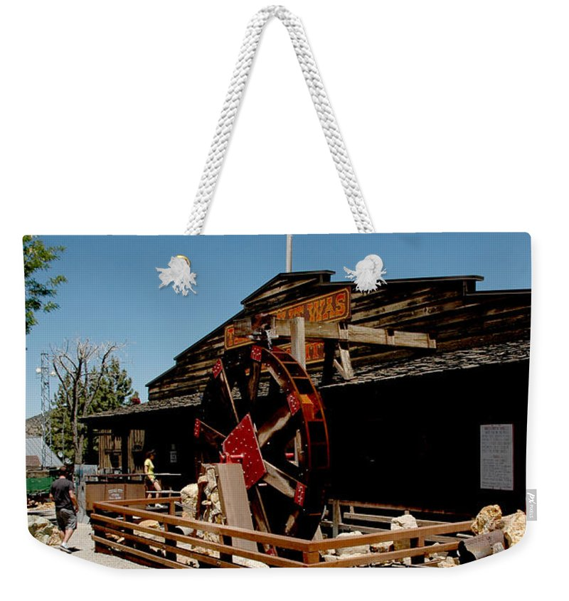 Usa Weekender Tote Bag featuring the photograph The Way It Was Virginia City Nv by LeeAnn McLaneGoetz McLaneGoetzStudioLLCcom