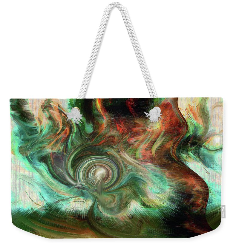 Wind Blows Weekender Tote Bag featuring the digital art The Way The Wind Blows by Linda Sannuti
