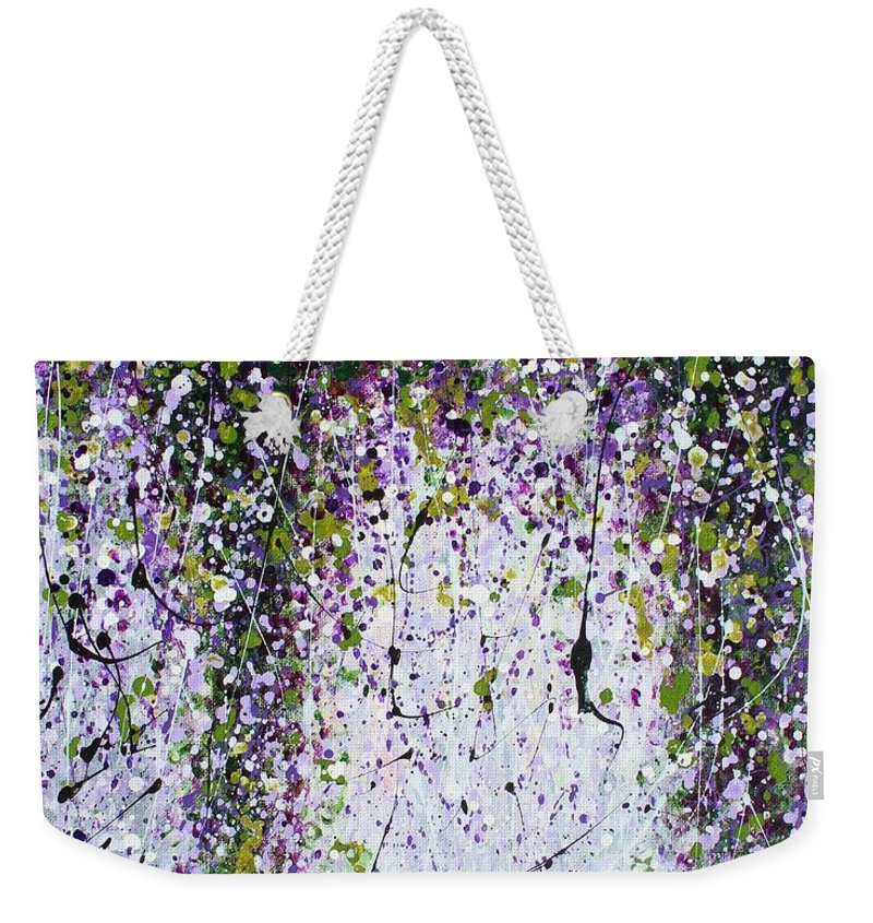 Garden Weekender Tote Bag featuring the painting The Way To My Garden by Kume Bryant
