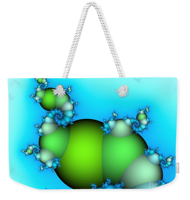 Fractal Weekender Tote Bag featuring the digital art The Way Upwards by Jutta Maria Pusl