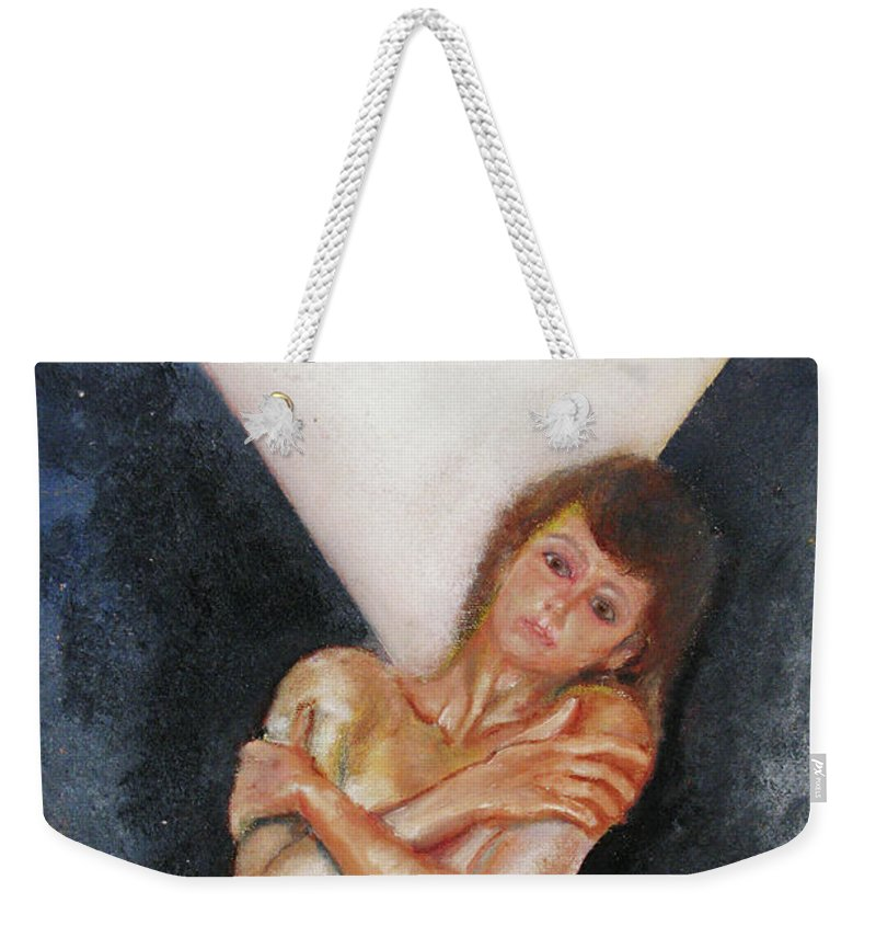 Females Weekender Tote Bag featuring the painting The Way You Make Me Feel by Tom Conway