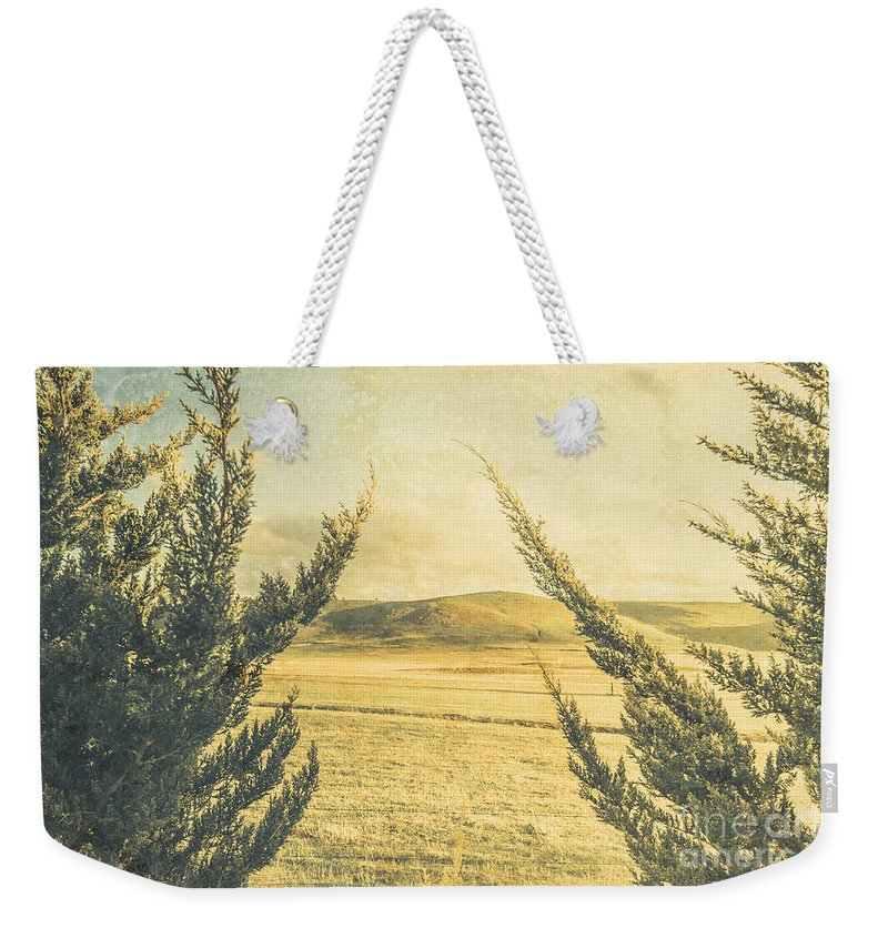 Vintage Weekender Tote Bag featuring the photograph The Wayback Meadow by Jorgo Photography - Wall Art Gallery