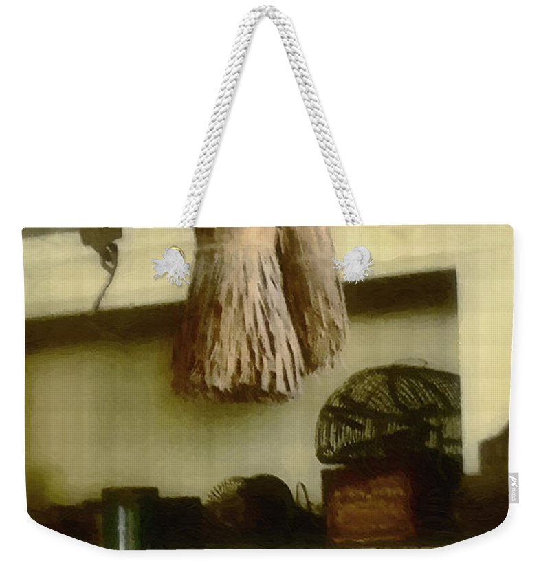 Antiques Weekender Tote Bag featuring the digital art The Well Equipped Pantry by RC DeWinter