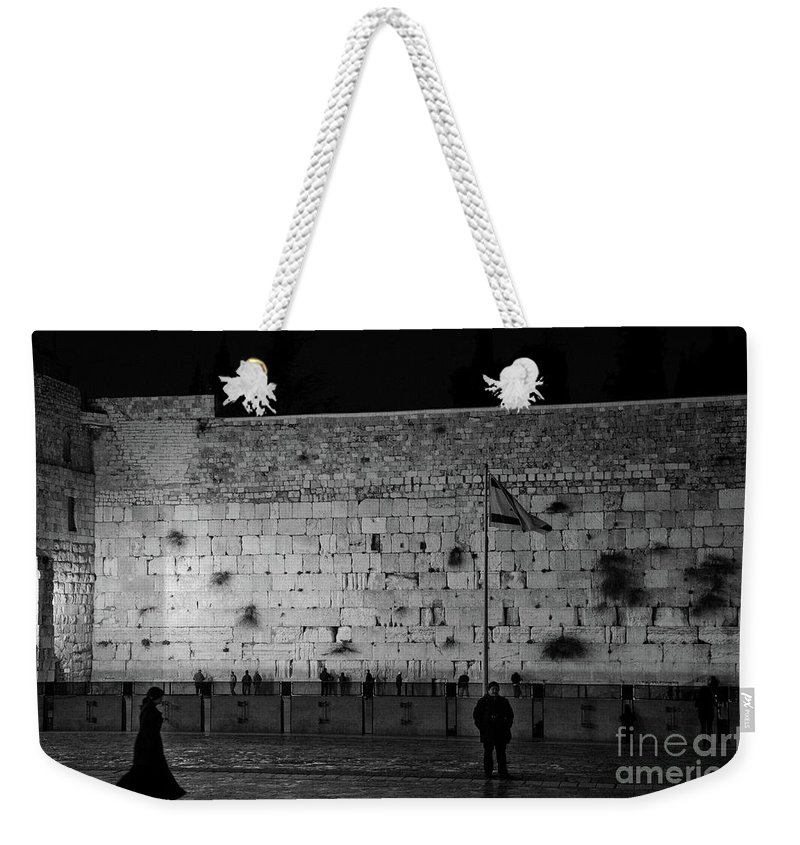 Western Wall Weekender Tote Bag featuring the photograph The Western Wall, Jerusalem by Perry Rodriguez