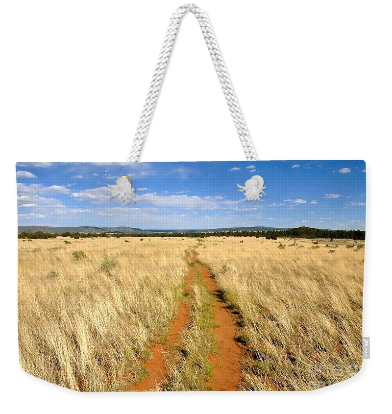 Trail Weekender Tote Bag featuring the photograph The Westward Trail by David Lee Thompson
