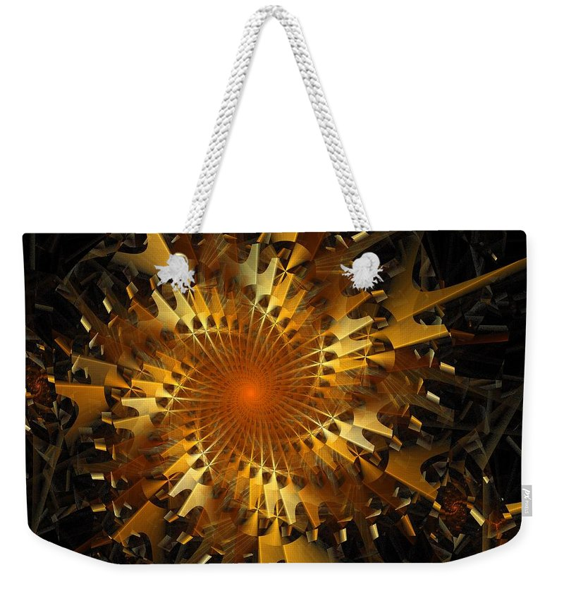 Digital Art Weekender Tote Bag featuring the digital art The Wheels Of Time by Amanda Moore