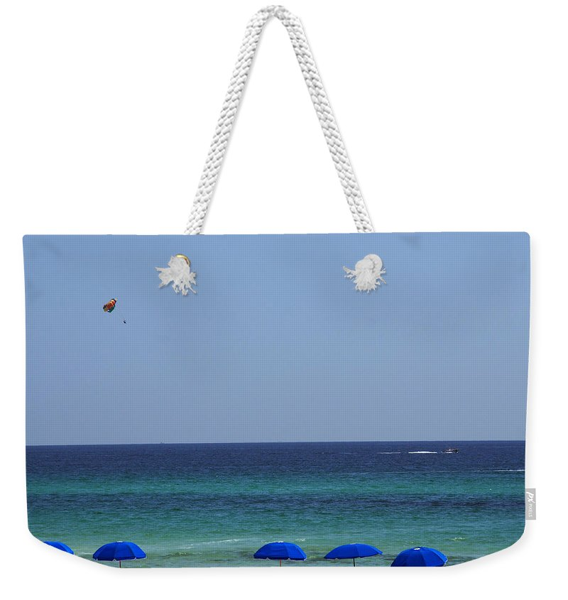 Beach Scene Weekender Tote Bag featuring the photograph The White Panama City Beach - Before The Oil Spill by Susanne Van Hulst