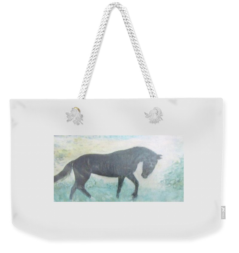 Impressionism Weekender Tote Bag featuring the painting The Wild Stallion by Glenda Crigger