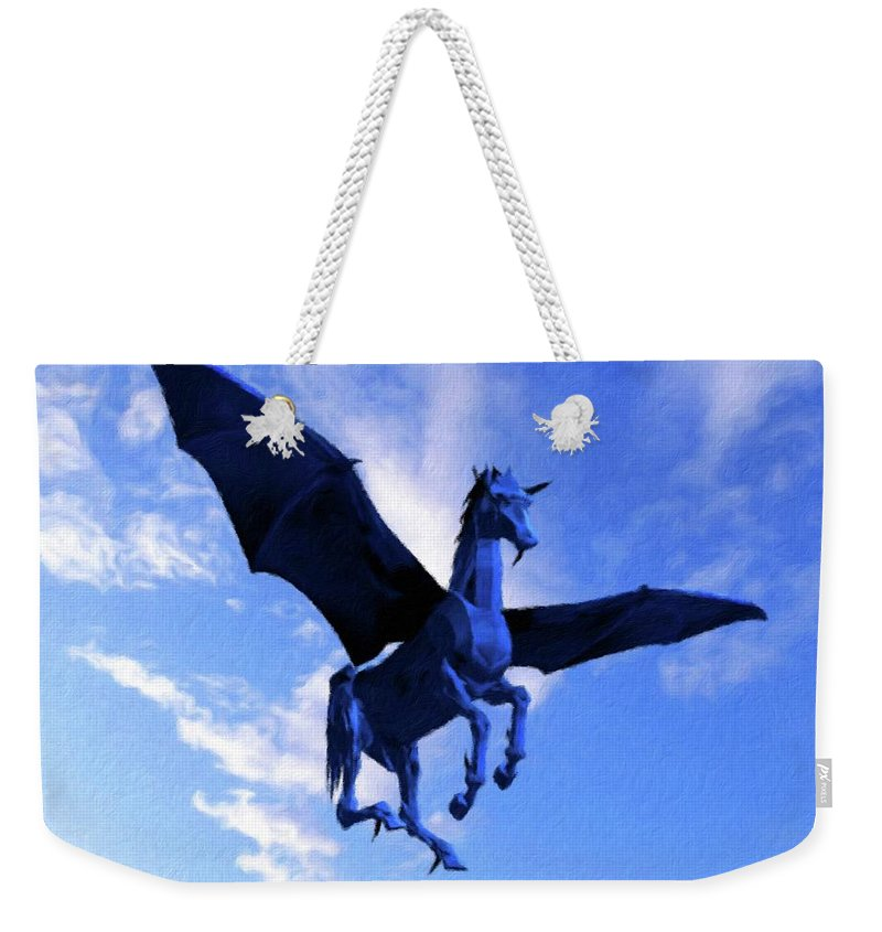 Wings Weekender Tote Bag featuring the painting The Winged Horse by Pierre Blanchard