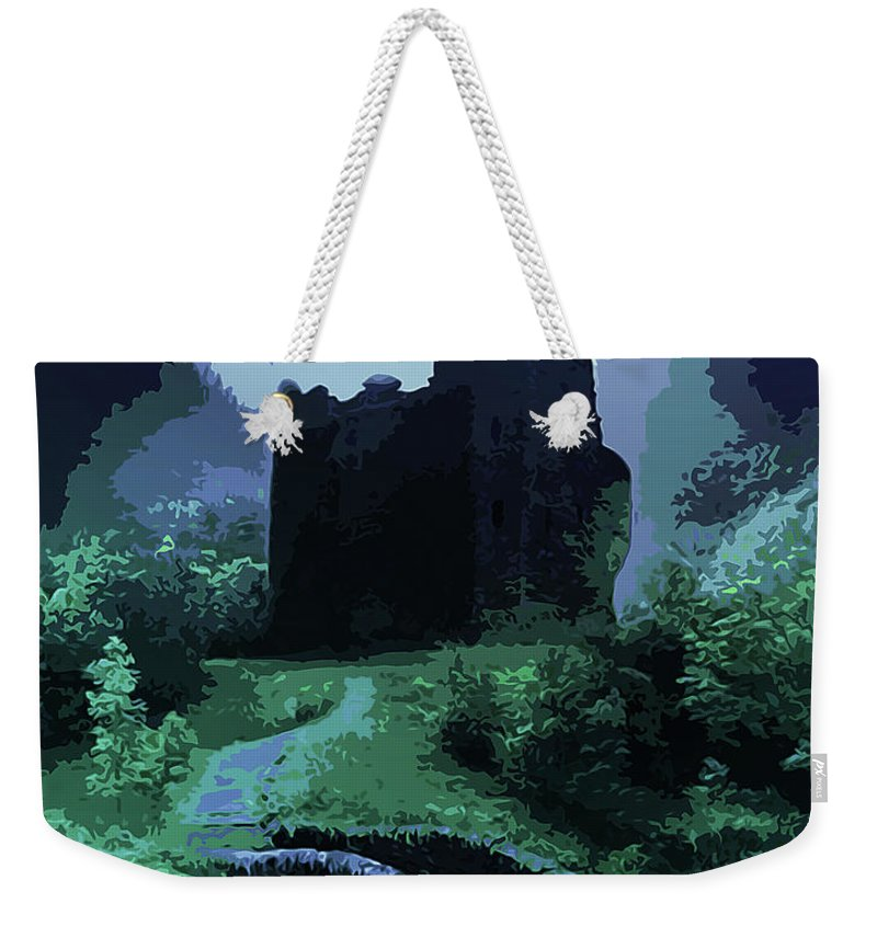 Witch Weekender Tote Bag featuring the painting The Witching Hour by Andrea Mazzocchetti