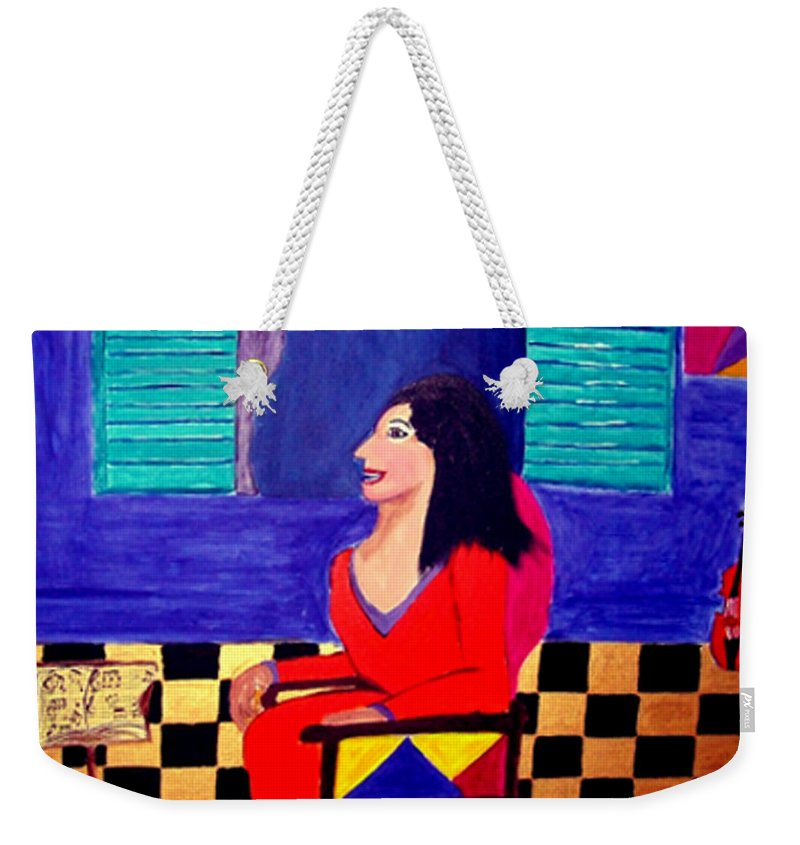 Fauvism Weekender Tote Bag featuring the painting The Witch's Duet by Rusty Gladdish