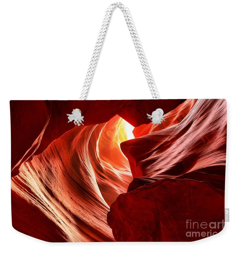 Woman In The Canyon Weekender Tote Bag featuring the photograph The Woman In The Canyon by Adam Jewell