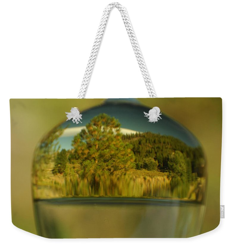 Reflection Weekender Tote Bag featuring the photograph The World In Reflection by Donna Blackhall